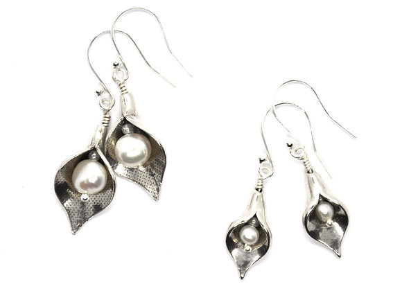 Silver Arum Lily Earrings