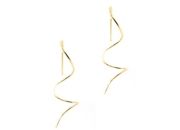 Yellow Gold Vermeil Curl Drop Earrings