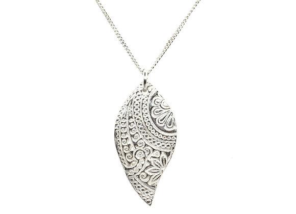 Silver Boho Pendant