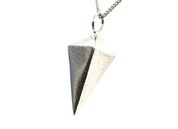 Silver Pyramid Pendant - Small