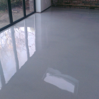 Flake-less Grey Epoxy Flooring