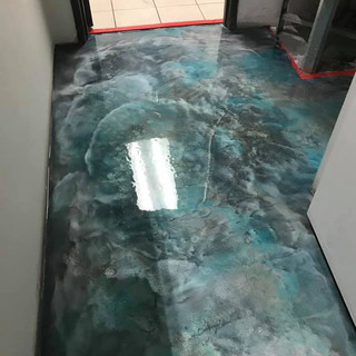 Custom Metallic Floor