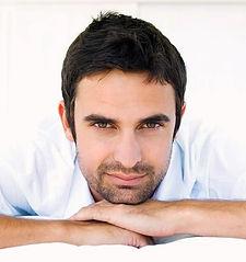 Männer Toupet, Haarersatz für Männer, braune kurze Haare, Haarteil, Mann, Gesicht