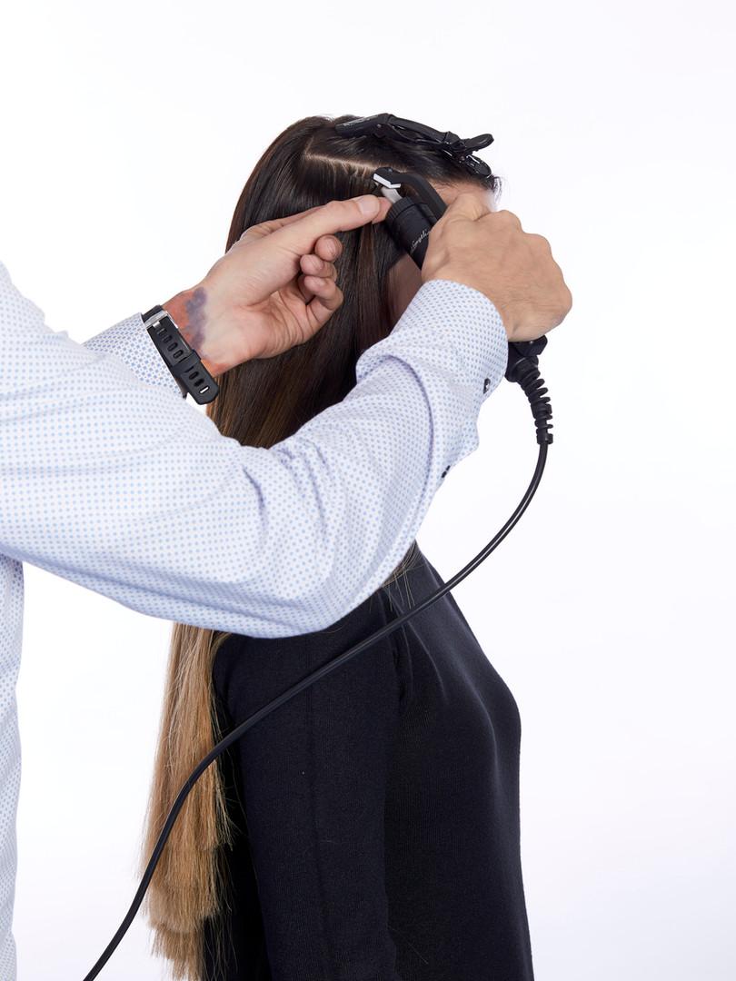 Haarverlängerung Classic steps_lisa_Ultraschall