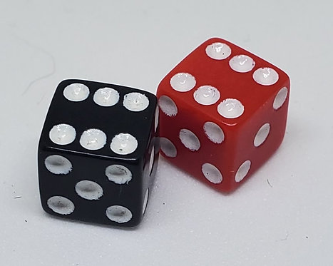 Replacement Dice, Red/Black