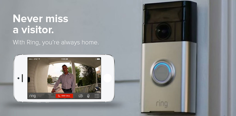 Ring Doorbell, installed and sold here at Lock Stop