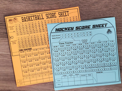 New and improved Score Sheets!