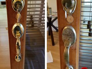 Front door handlesets and lock options