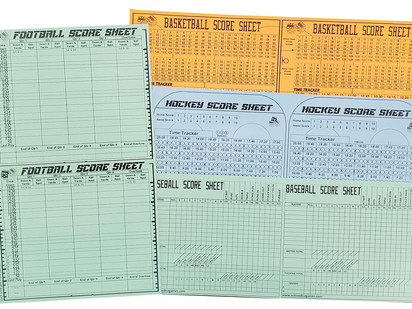 FREE! New and improved score sheets!