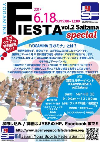 6/18(sun) YOGAMINA FIESTA vol.2 SAITAMA 開催!!