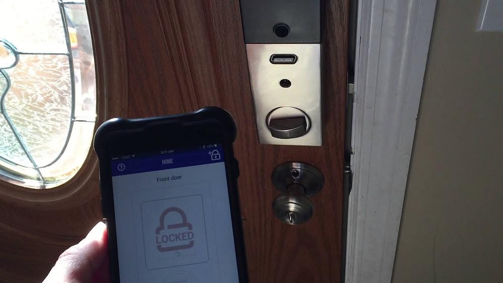 Lock Stop installs the new Schlage Sense Smart Lock, Call today!