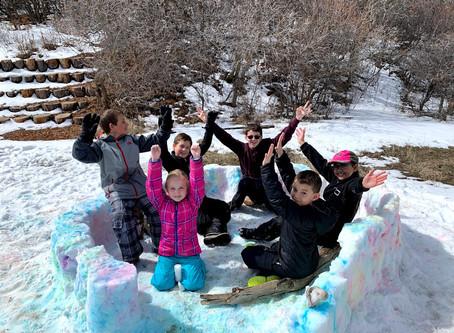 Spring Project: Tie-Dye a Snow Village