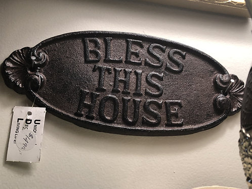 Bless This House Metal Sign