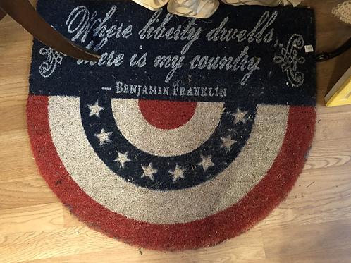 Ben Franklin Door Mat