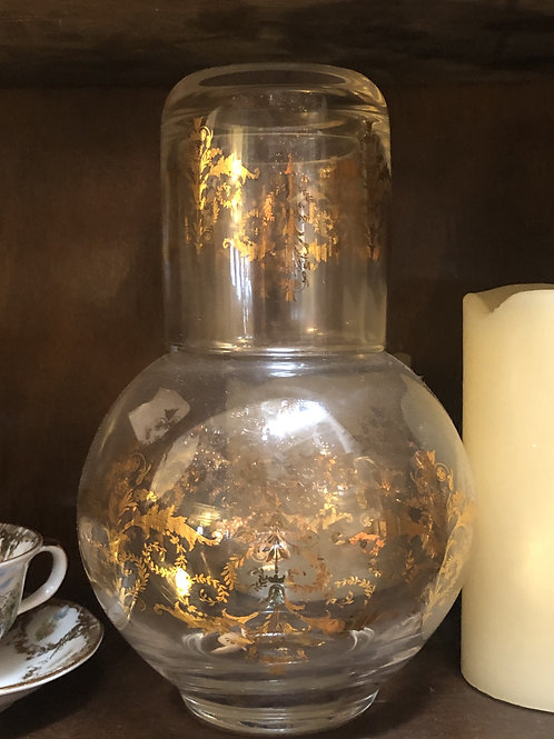 Clear/Gold Bedside water carafe