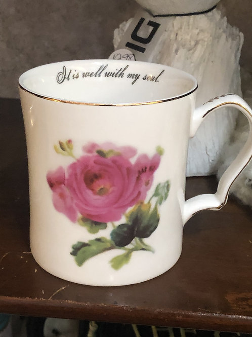 Victorian Mug with Quote
