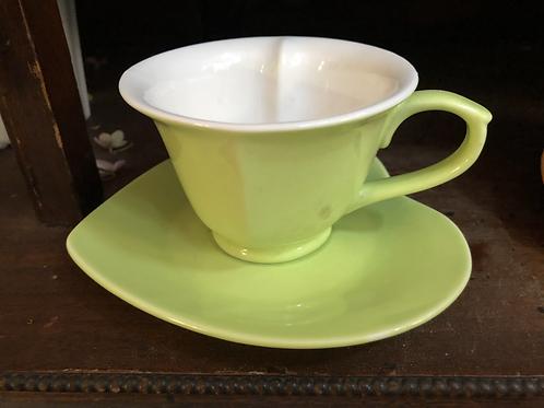 Green Tea Cup and Saucer
