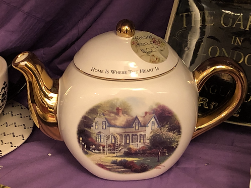 """Home"" Tea Pot"