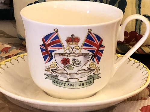 Great British Tea Cup and Saucer