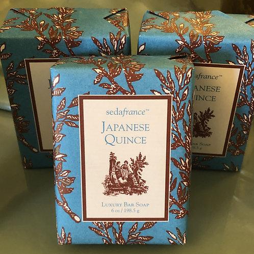6oz Luxury Bar Soap SedaFrance Japanese Quince