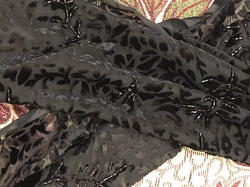 Black Velvet Scarf