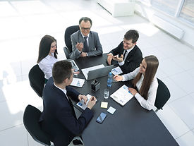 from the top view.business team discussi