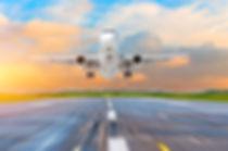 Airplane landing on runway airport in th