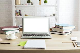 Front view of creative designer desktop