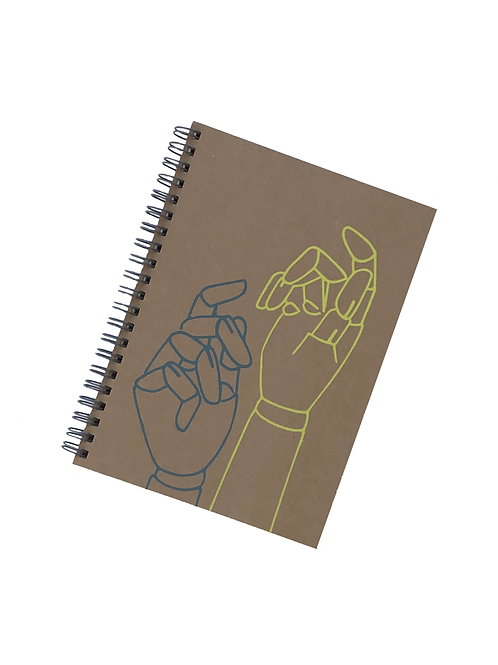Wooden Hands Recycled Notebook