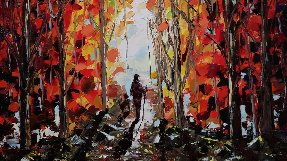 """Oil painting """"Rocky Trail"""" 10x14x1 inch"""