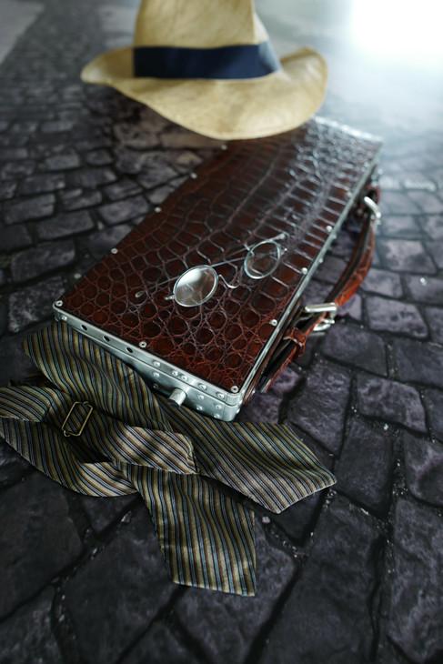 Crocodile  clutch bag