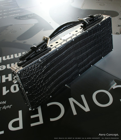 Crocodile clutch bag