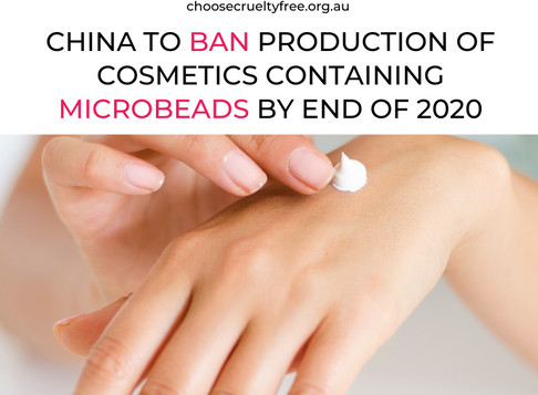 China to ban production of cosmetics containing microbeads by end of 2020