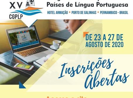 Inscrições Abertas - XV Congresso de Geoquímica dos Países de Língua Portuguesa