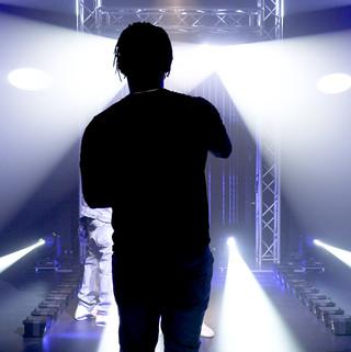 Camera studio white lights