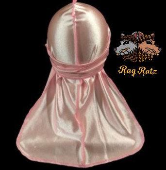 Powder Pink Satin Silky Rag Ratz Du-Rag
