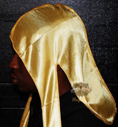 Gold Satin Silky Rag Ratz Du-Rag