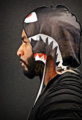 "Black ""Bape Shark"" Rag Ratz Du-Rag"