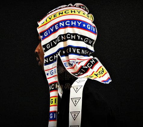"Multi-Color ""Givenchy"" Rag Ratz Du-Rag"