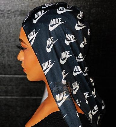 "Black ""Nike"" Rag Ratz Du-Rag"