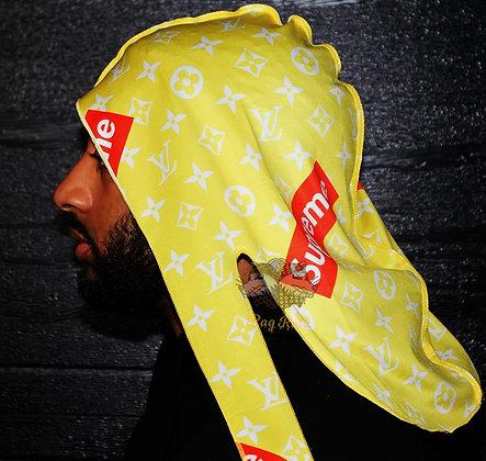 "Yellow ""LV/Supreme"" Rag Ratz Du-Rag"