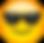 Le-smiley-qui-porte-des-lunettes-de-sole