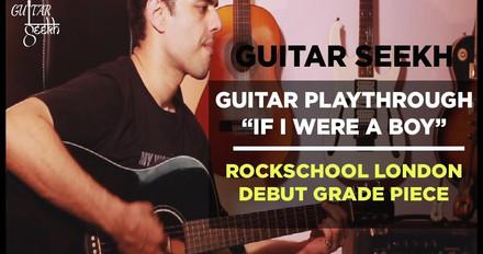Guitar Playthrough If I Were A Boy