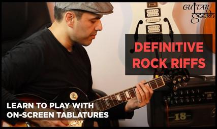 definitive rock riffs