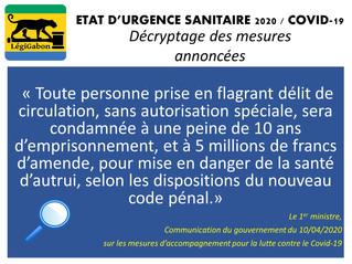 ÉTAT D'URGENCE SANITAIRE / COVID-19 Décryptage des mesures annoncées