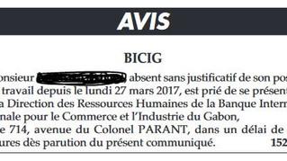 LES CONSÉQUENCES DE L'ABSENCE AU TRAVAIL