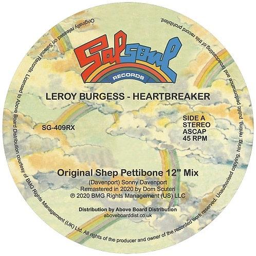 Leroy Burgess / Heartbreaker (Inc. Moplen Remix)