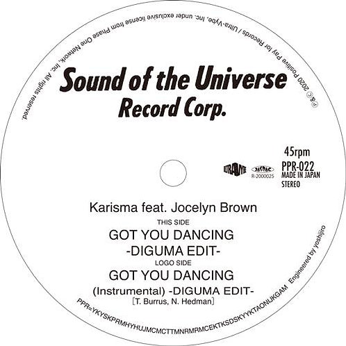 Karisma feat. Jocelyn Brown / Got You Dancing (DIGUMA EDIT)