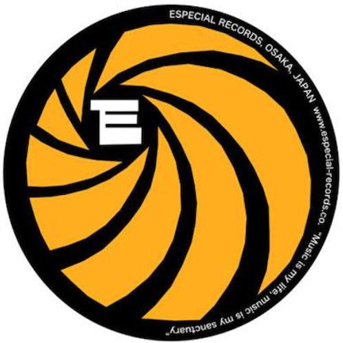 """Especial Records / オフィシャル・スリップ・マット (ブラック x オレンジ) 【12""""サイズ】*2枚セット"""