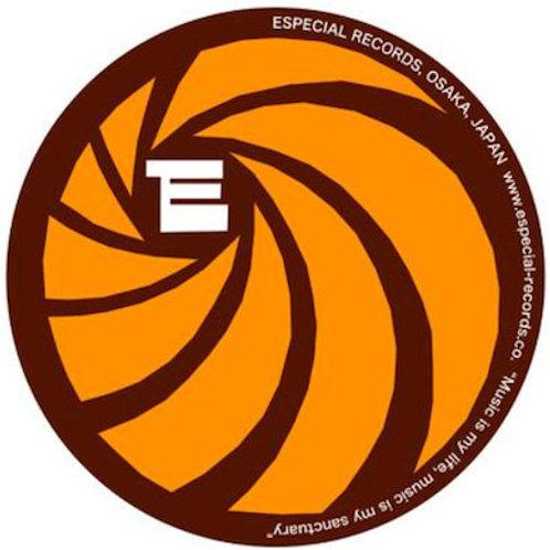 """Especial Records / オフィシャル・スリップ・マット (ブラウン x オレンジ) 【12""""サイズ】*2枚セット"""
